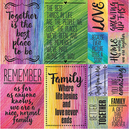 Family Time 12x12 Poster Sticker