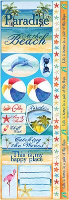 Watercolor Beach Combo Sticker