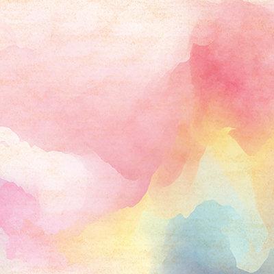 Pink Sunrise Watercolor