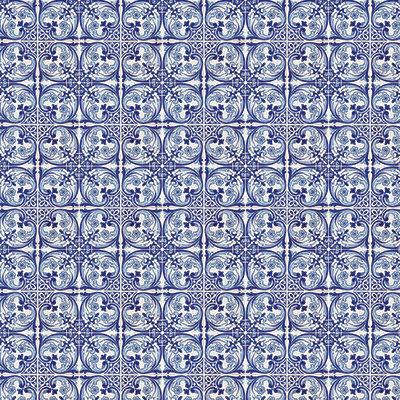 Deep Blue Mosaic #1