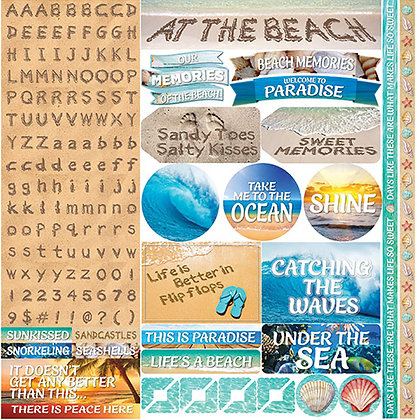 Just Beachy Alpha Variety Sticker