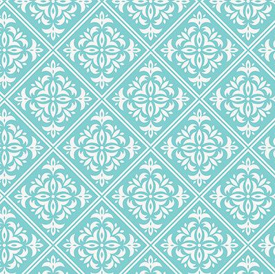 Turquoise Damask #11