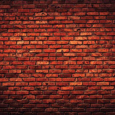 Deep Red Brick Wall