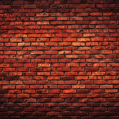 Deep Red Brick Wall
