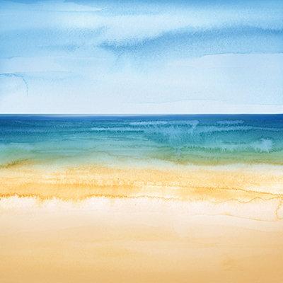 Watercolor Beach