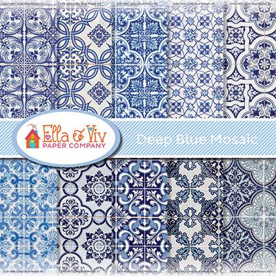 Deep Blue Mosaic Collection