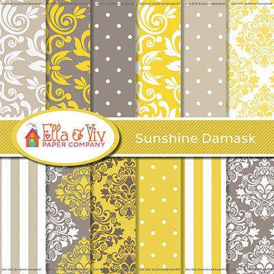 Sunshine Damask Collection