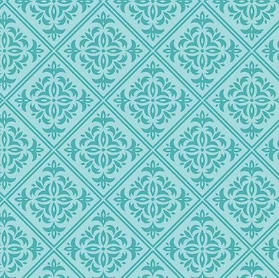 Turquoise Damask #1