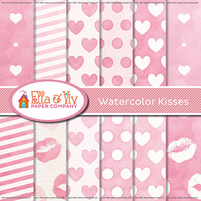 Watercolor Kisses Collection