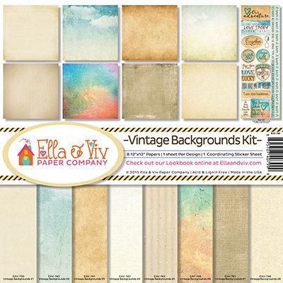 Vintage Backgrounds Kit