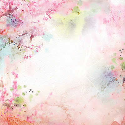 Pink Blossoms Watercolor