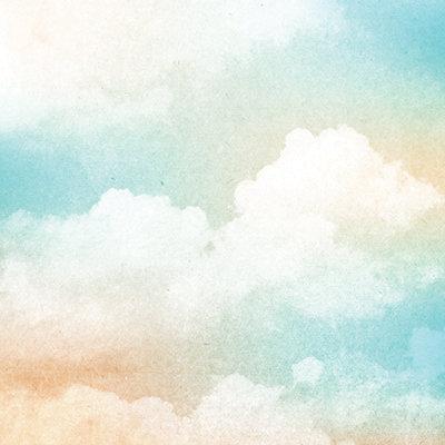 Cloudy Sky Watercolor