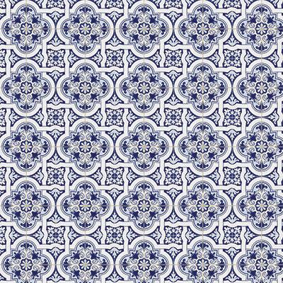 Deep Blue Mosaic #5