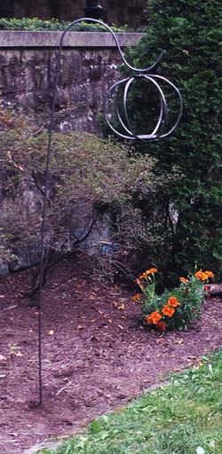 Steel Lantern in Courtyard