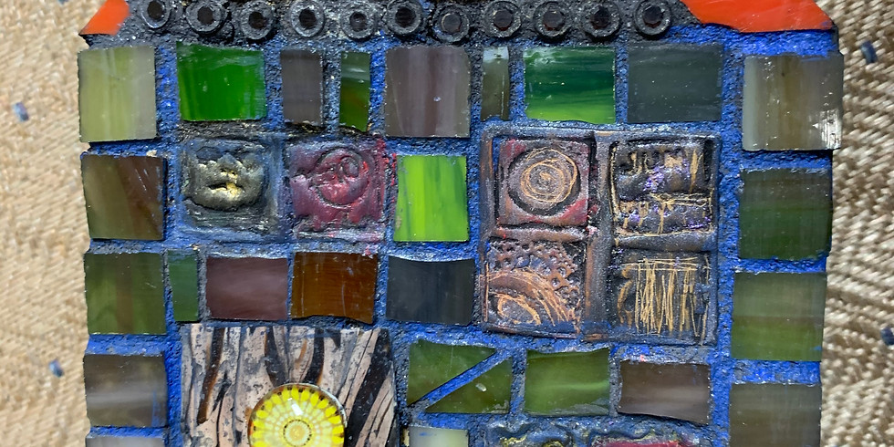 Tile, Glass and Clay Mixed Media Mosaic