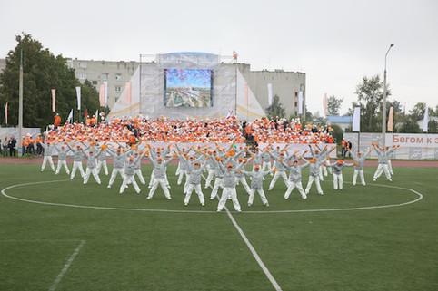 артисты балета на открытии спартакиады