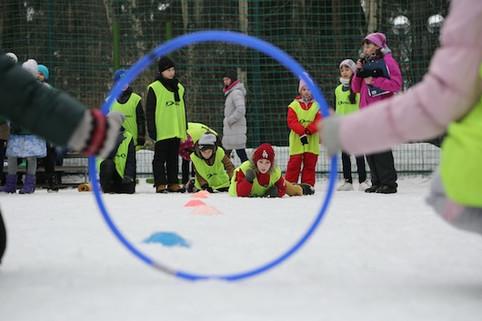 веселые старты на Зимней Спартакиаде