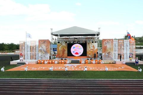 церемония открытия Спартакиады