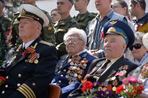 Ветераны на Дне Победы