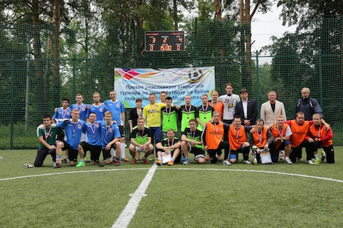 футбольный матч на летней Спартакиаде