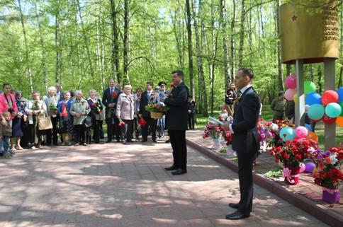 церемония возложения цветов на День Победы пос. Мосрентген