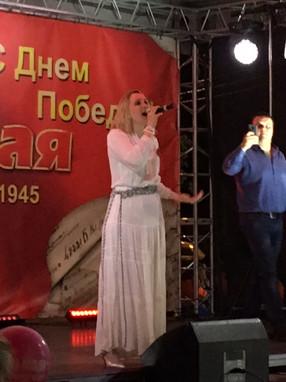 Ульяна Каракоз на Дне Победы в Щербинке