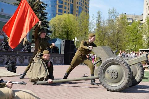 День Победы г. Реутов, театрализованное представление