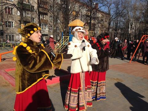 фольклорный ансамбль на Масленицу