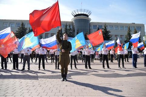 Флаговое шоу на День Победы
