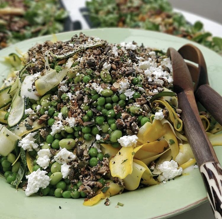 Courgette, Pea, Mint, Feta Salad 2