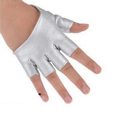 Luvas meio dedo Prata