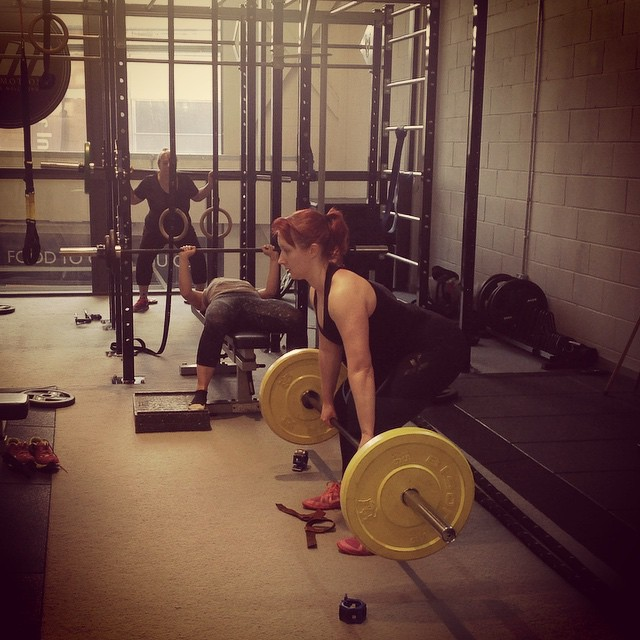 Instagram - Heavy compound lifts this morning at Girls Who Lift.jpg Squats, ches