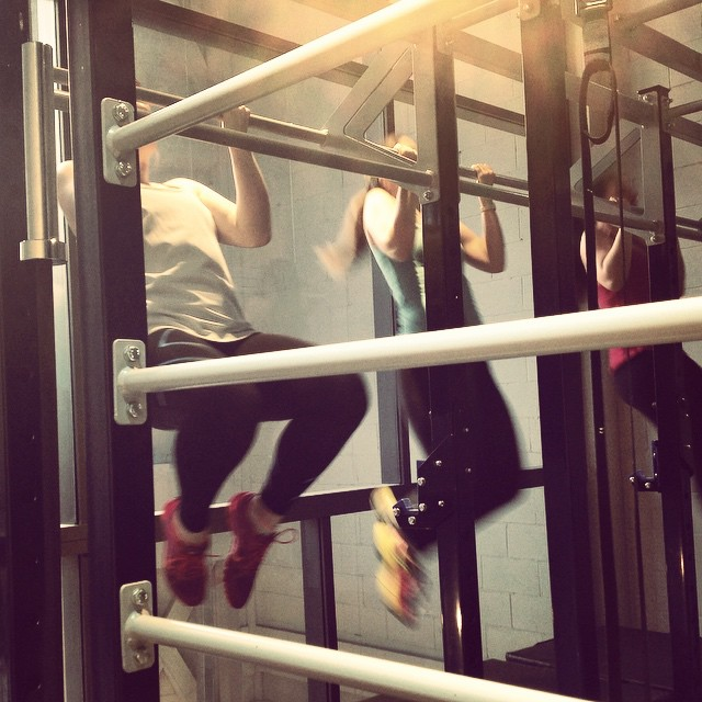 Instagram - Pull up time at Girls Who Lift! @lmotionstudios #trainlikeagirl #fit