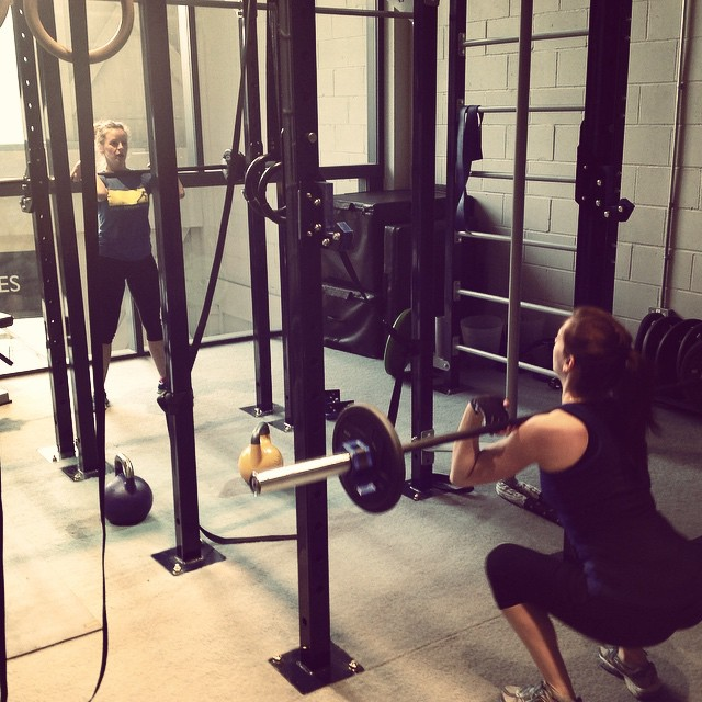 Instagram - Early morning front squats at Girls Who Lift @lmotionstudios #strong