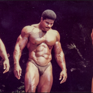 1984. Second place winner at the Mr. America AAU contest.