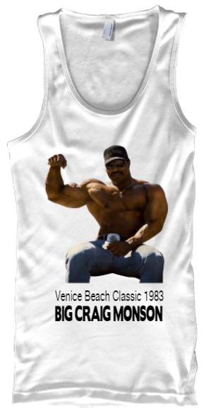 Craig Monson Venice Beach Classic White Tank Top