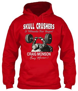 Craig Monson Skull Crushers Red Hoodie