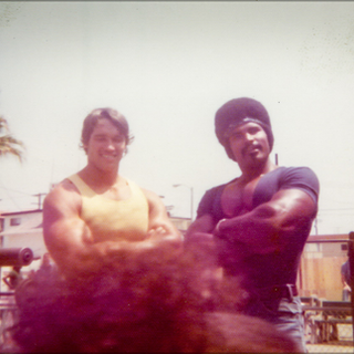 Arnold Schwarzenegger and Craig Monson in the early 1980's.