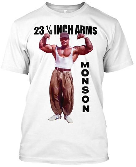 Craig Monson 23 inch Arms White T-shirt