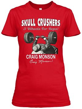 Craig Monson Skull Crushers Women's Fitted Tee