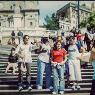 Craig with fans in Rome Italy 2004.