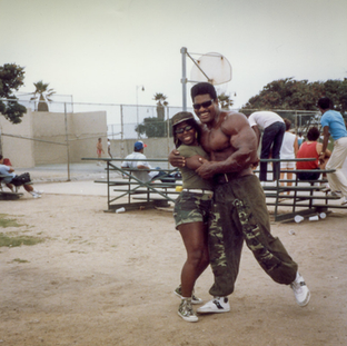 Craig and Fan at Muscle Beach