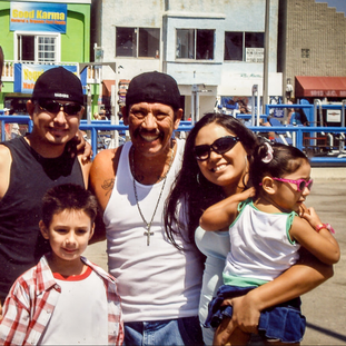 Craig with Danny Trejo and his Godson, Chris in about 2010. Craig and Danny go back to 1977. It was Trejo's idea and the went to a special type casting agency in front of Hollywood High together to be in the movies.