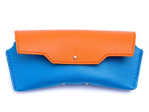 Brillenetui - Orange & Blau