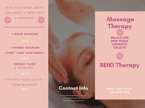 5 Massage Session Promo
