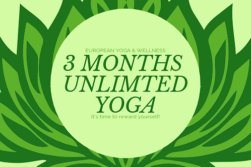 3 Months Unlimited Yoga Membership