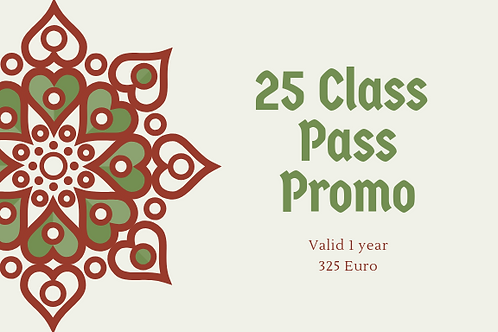 Regular 25Class Pass (Hot Yoga Excluded)