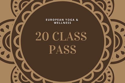 20 Class Pass Hot Yoga