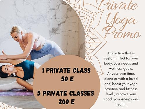 5 Private yoga promo