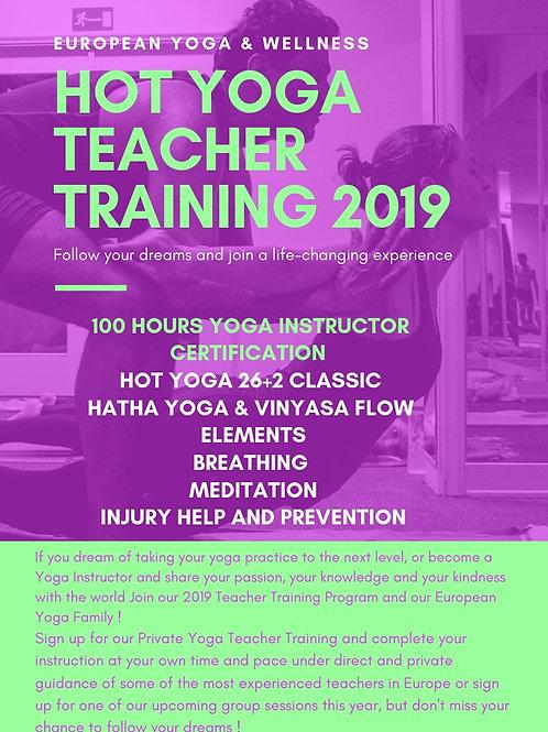 2019 Private Hot Yoga Teacher Training Program
